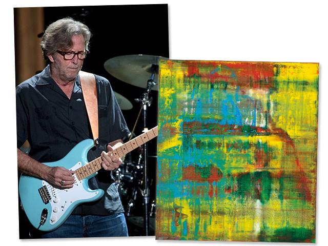 Eric clapton coloca à venda quadro do pintor gerhard richter. aos