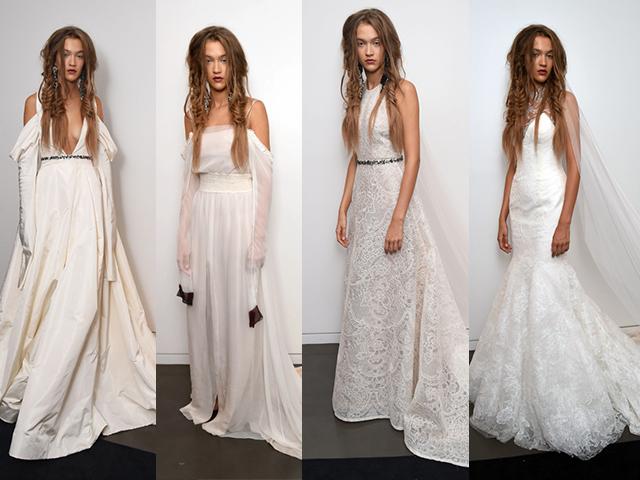 Mais quatro looks da coleção de vestidos de noivas de inverno 2017 da estilista Vera Wang || Créditos: Divulgação