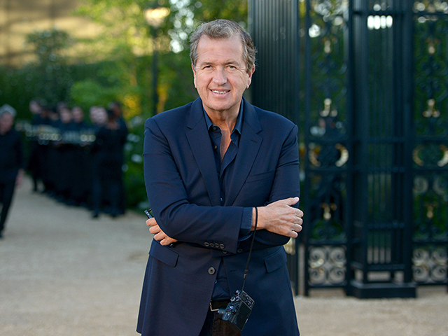 "LOS ANGELES, CA - APRIL 16: Fashion photographer Mario Testino attends the Burberry ""London in Los Angeles"" event at Griffith Observatory on April 16, 2015 in Los Angeles, California. (Photo by Chris Weeks/Getty Images for Burberry)"
