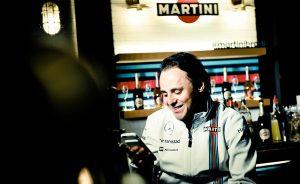 Martini arma noite com Felipe Massa no Jamie's Italian