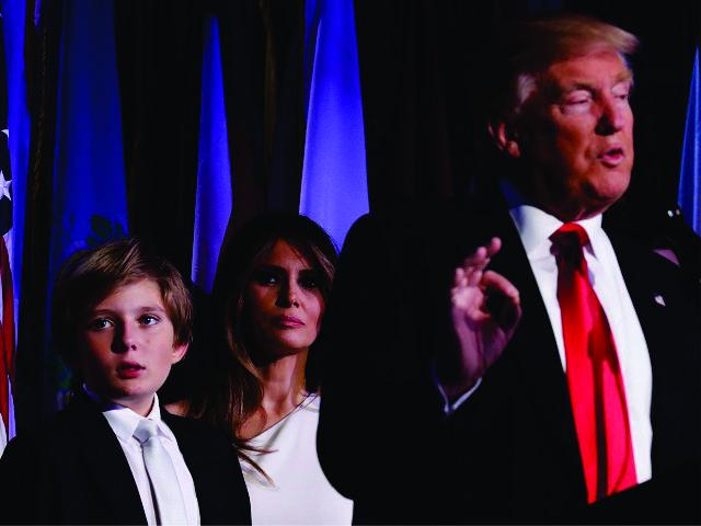 Barron Trump e o pai, Donald Trump