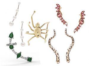 Ear cuffs, os acessórios da vez, em versões que vão do jantar ao gala