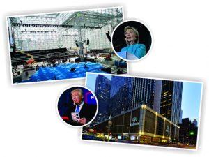 Hillary e Trump estarão em Nova York para a contagem dos votos nesta terça