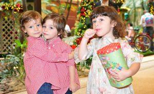 Papai Noel baixou no Jardim Encantado de Natal do Shopping Cidade Jardim