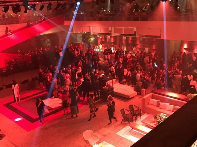 Geral do subsolo do MASP, palco da noite de gala com show de Marisa Monte || Créditos: Reprodução / Instagram