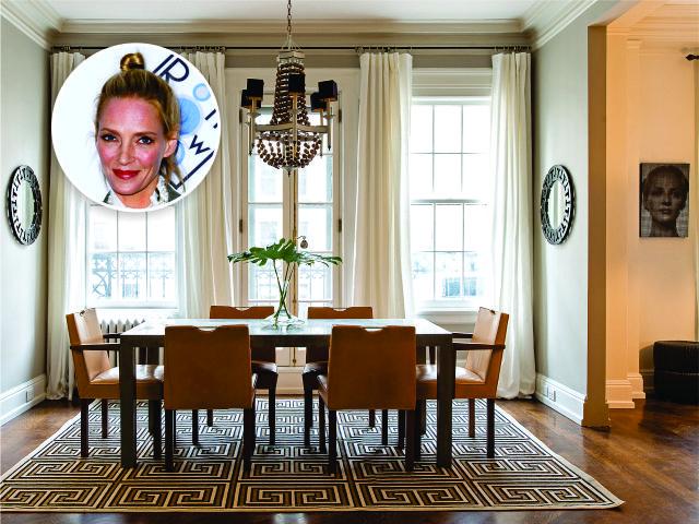 Uma Thurman e o apartamento em NY