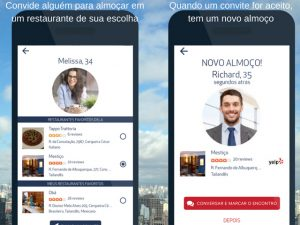 Novo aplicativo de paquera aposta em encontros durante o almoço