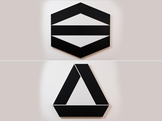 Duas serigrafias de Geraldo de Barros || Créditos: Divulgação