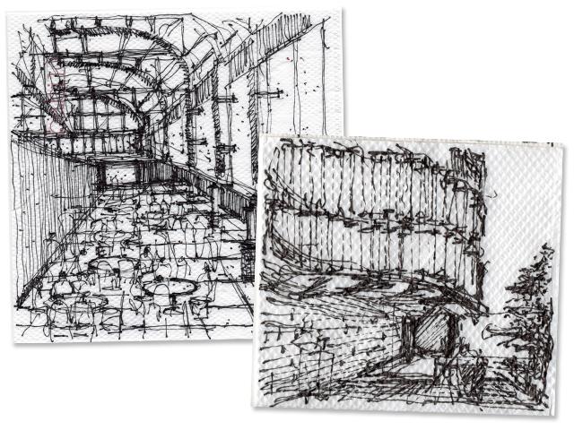 Dois desenhos de José Ricardo Basiches que serão expostos na Hunter Douglas