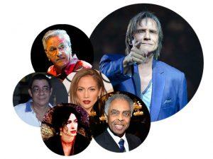 Jennifer Lopez, Gil, Caetano, Marisa Monte e Zeca Pagodinho no especial de Roberto Carlos