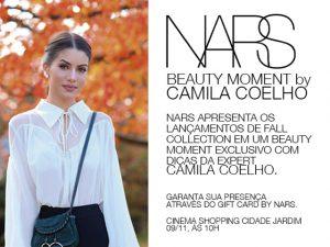 NARS arma evento de beleza com Camila Coelho no shopping Cidade Jardim