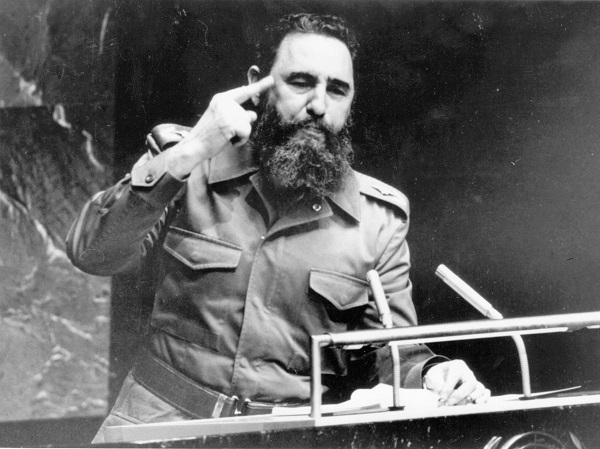 Fidel durante discurso na ONU, em Nova York, em 1979 || Créditos: Reprodução