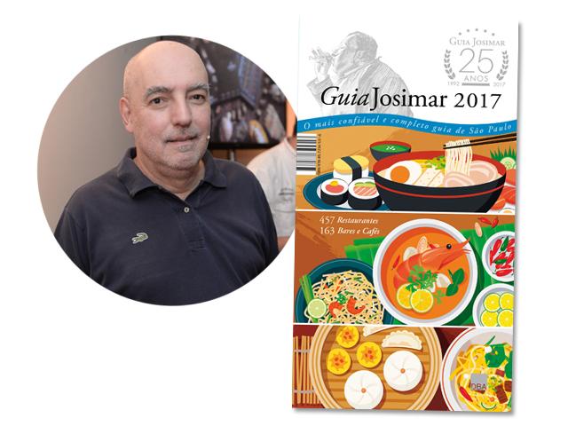 Josimar Melo e a capa do Guia Josimar 2017 que completa 25 anos || Créditos: Divulgação