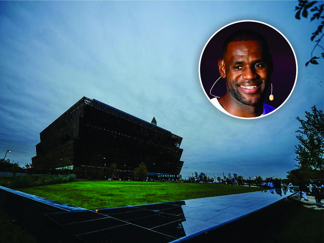 O Museu Nacional de História e Cultura Afro-americana, e LeBron James || Créditos: Getty Images