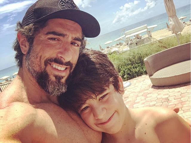 Marcos Mion e o filho Romeo
