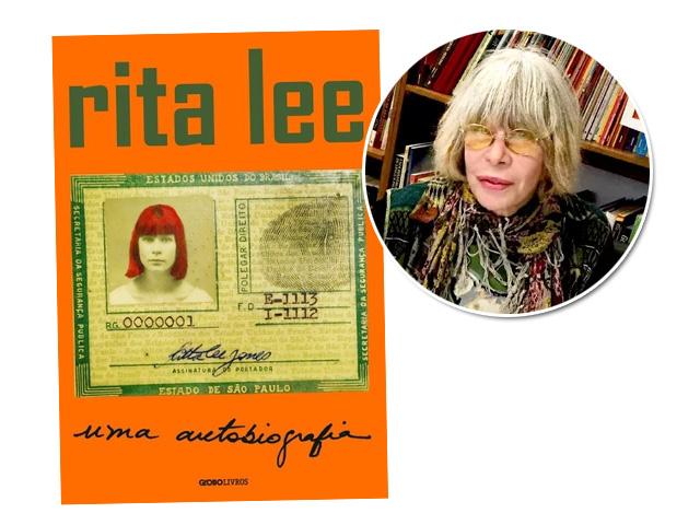 Rita Lee e a capa de sua autobiografia || Créditos: Bruna Guerra / Divulgação