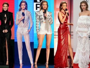 Gigi Hadid veste 6 looks poderosos no AMA 2016. Às produções da noite!