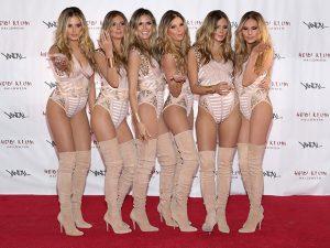 Heidi Klum vai a festa de Halloween acompanhada de 5 clones seus