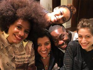 Lázaro Ramos comemorou aniversário com amigos e comida baiana