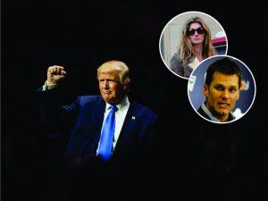 """Gisele nega, mas Trump confirma apoio do """"grande amigo"""" Tom Brady"""