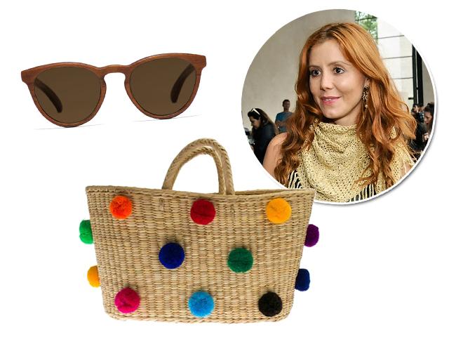 Óculo da marca Zerezes, bolsa da Teçume e a designer Vanessa Montoro Créditos: Bruna Guerra