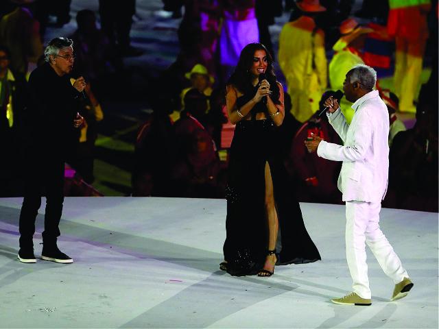 Caetano Veloso, Anitta e Gilberto Gil || Créditos: Getty Images