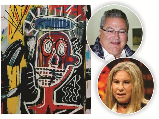 Dimitri Mavrommatis e Barbra Streisand, e a obra de Basquiat