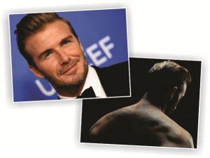 Tatuagens de Beckham são usadas em campanha contra violência infantil