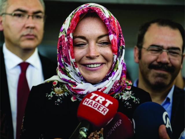 Lindsay Lohan na Turquia, em outubro
