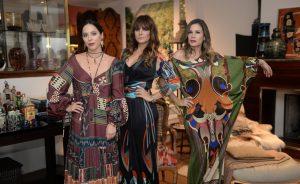 Glamurettes no lançamento da campanha de Adriana Barra na casa de Esther Giobbi