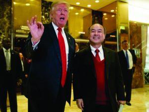 Encontro de Trump com homem mais rico do Japão dá o que falar nos EUA