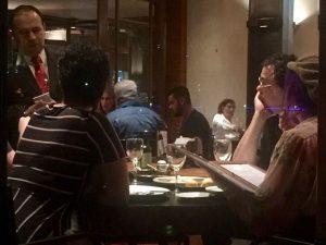 O neocasal Baby do Brasil e Casagrande em jantar romântico. Onde?