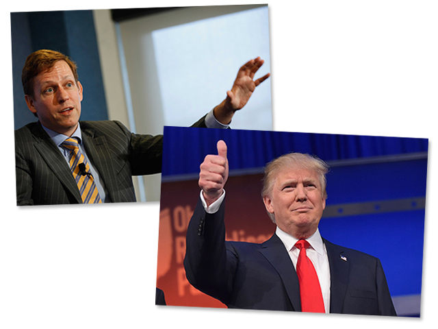 Peter Thiel e Donald Trump || Créditos: Getty Images