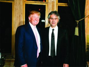 Andrea Bocelli deve cantar na cerimônia de posse de Donald Trump