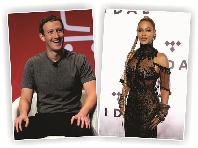 Mark Zuckerberg e Beyoncé Knowles