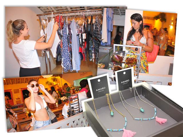 Convidados na Casa Glamurama Trancoso conferem as novidades da marca Amaro || Créditos: Bruna Guerra