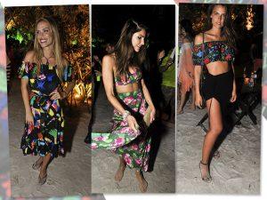 Fauna e flora tropicais dominam os looks das bem vestidas na festa Saravá