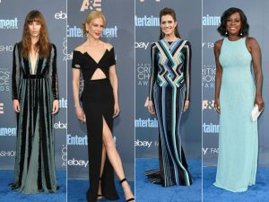 Azul e preto deram o tom nos looks do Critics' Choice 2016