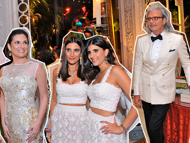 Festa na casa de Jorge Elias contou até mesmo com cantores de ópera nas janelas || Créditos: Bruna Guerra