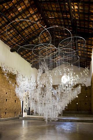 Detalhe da obra LUX, da artista Laura Vinci    Créditos: Divulgação