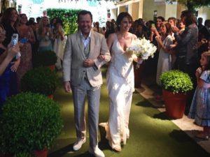 Carol Dieckmann, Caetano e mais no casamento de Vik Muniz e Malu Barretto