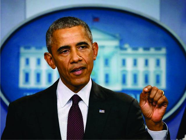 Obama discursando na Casa Branca || Créditos: Getty Images