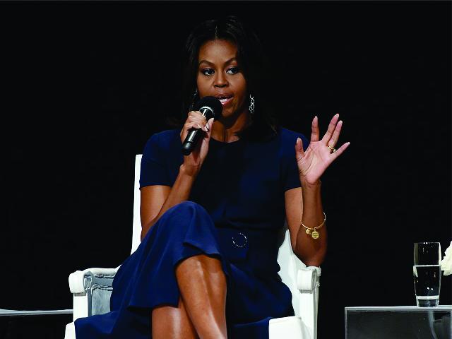 Michelle dá dicas em evento com adolescentes || Créditos: Getty Images