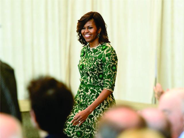 Michelle em momento fashion || Créditos: Getty Images