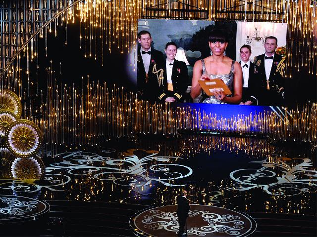 Michelle na cerimônia do Oscar, em 2013 || Créditos: Getty Images