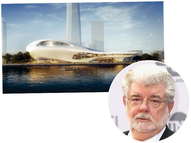 George Lucas e o projeto do museu em LA || Créditos: Getty Images