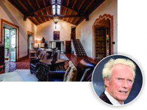 Clint Eastwood está vendendo a mansão onde morou com a ex-mulher