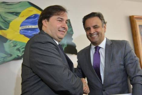 Rodrigo Maia e Aécio Neves