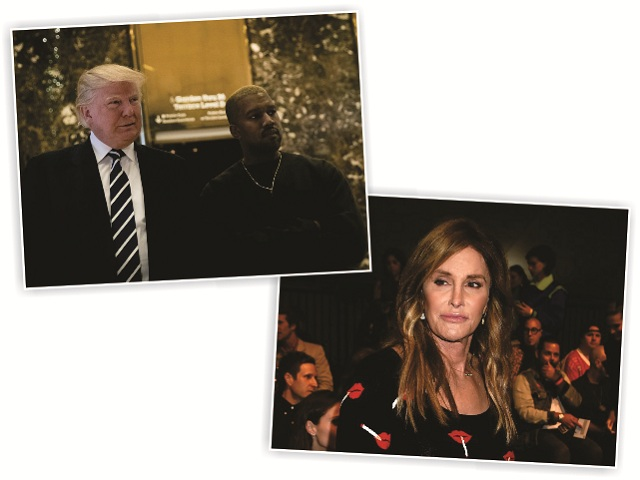 Trump com Kanye West, e Caitlyn Jenner || Créditos: Getty Images