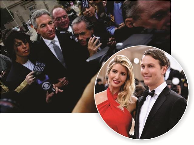 Charles Kushner, em 2005, e Jared Kushner com Ivanka Trump
